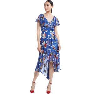 Alice + Olivia Riviera Floral Midi Dress
